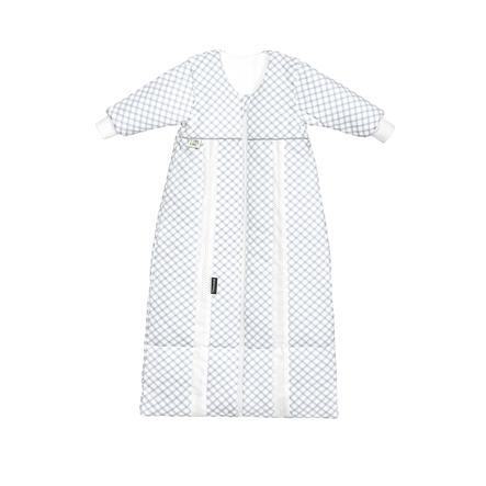 odenwälder Babynest prima klima Thinsulate jersey sovepose soft check grå 70cm - 130cm