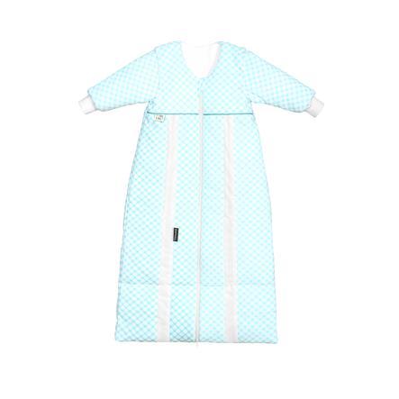 odenwälder Babynest prima klima Thinsulate-Jersey-Schlafsack check soft mint 70cm - 130cm