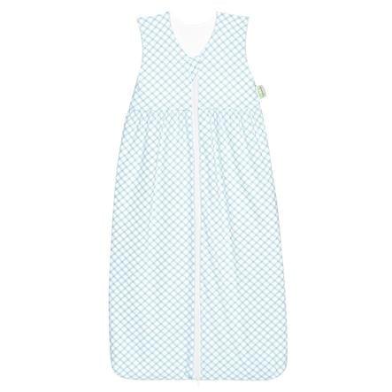 ODENWÄLDER Jersey Schlafsack Anni check soft mint 70cm - 130cm