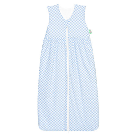 ODENWÄLDER Jersey Sac de couchage Anni check cool blue 70cm - 130cm