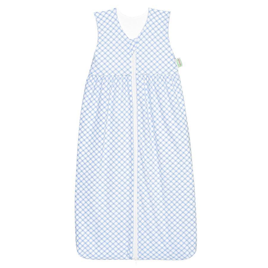ODENWÄLDER Jersey Śpiwór sypialny Anni check cool blue 70cm - 130cm