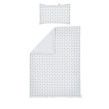 odenwälder odwracalna bielizna Jersey pościelowa kółka i plamy 100 silver x 135 cm