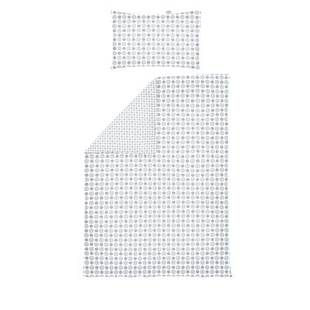 odenwälder Ropa de cama reversible Jersey, círculos y lunares plata 100 x 135 cm