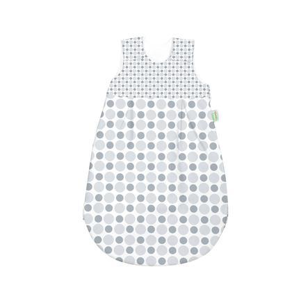 ODENWÄLDER basic Jersey-Schlafsack Kreis & Tupfen silber & grey 70cm - 110cm