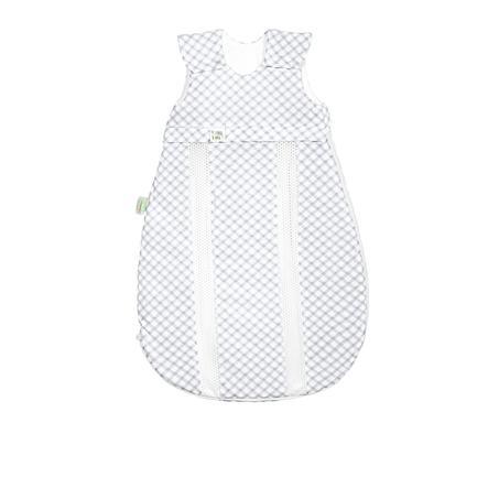 odenwälder Jersey -sac de couchage prima climat check light grey 60 cm - 130 cm