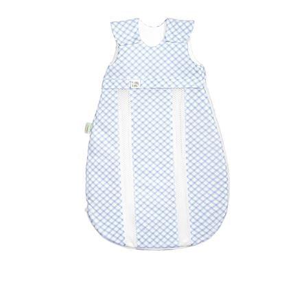 odenwälder Jersey -sac de couchage prima climat check cool blue 60 cm - 130 cm