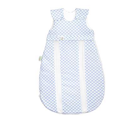 odenwälder Jersey-Schlafsack prima klima check cool blue 60 cm - 130 cm