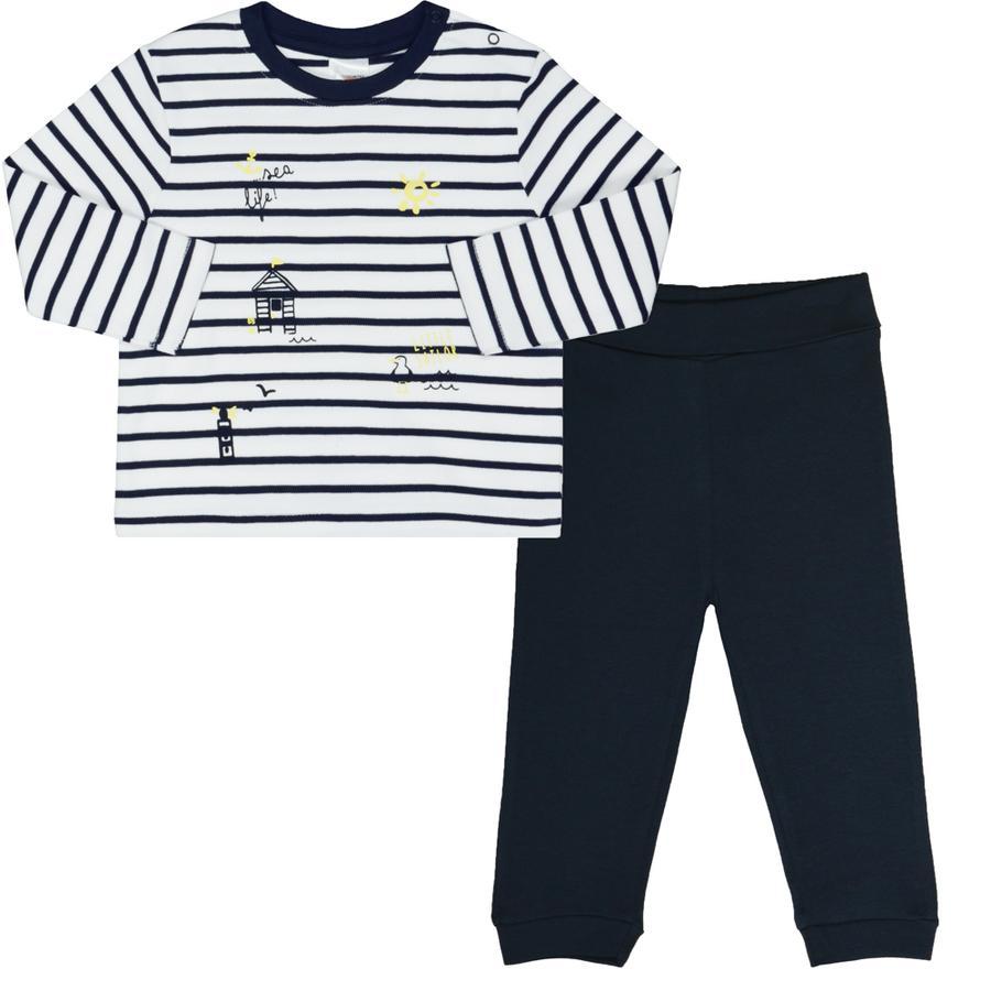 STACCATO Boys Schlafanzug marine - weiß