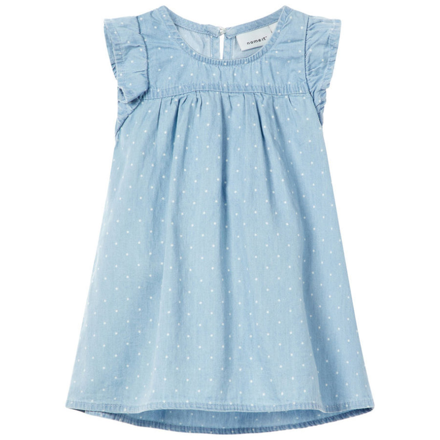 name it Girls Kleid Ablina light blue denim