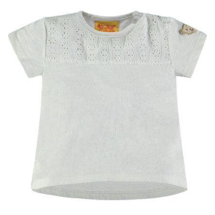 Steiff Girl s T-Shirt con dibujo de agujeros, blanco