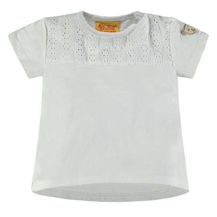 Steiff Girl s T-Shirt z wzorem otworów, biały