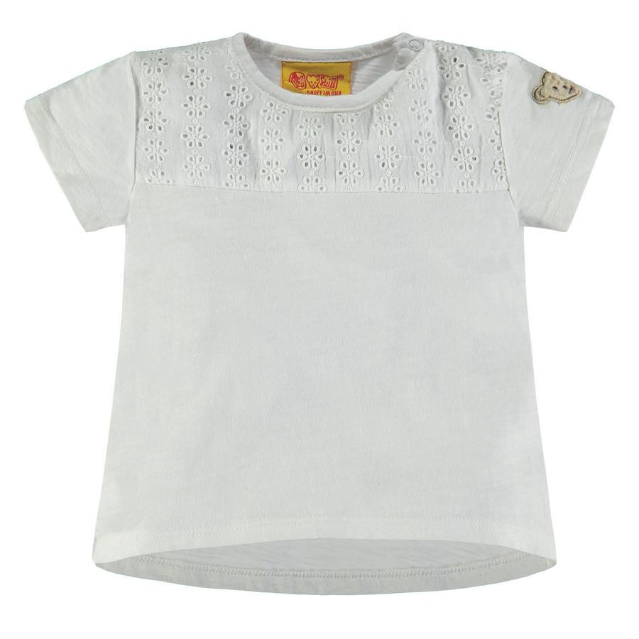 Steiff T-shirt enfant motifs à trous blanc