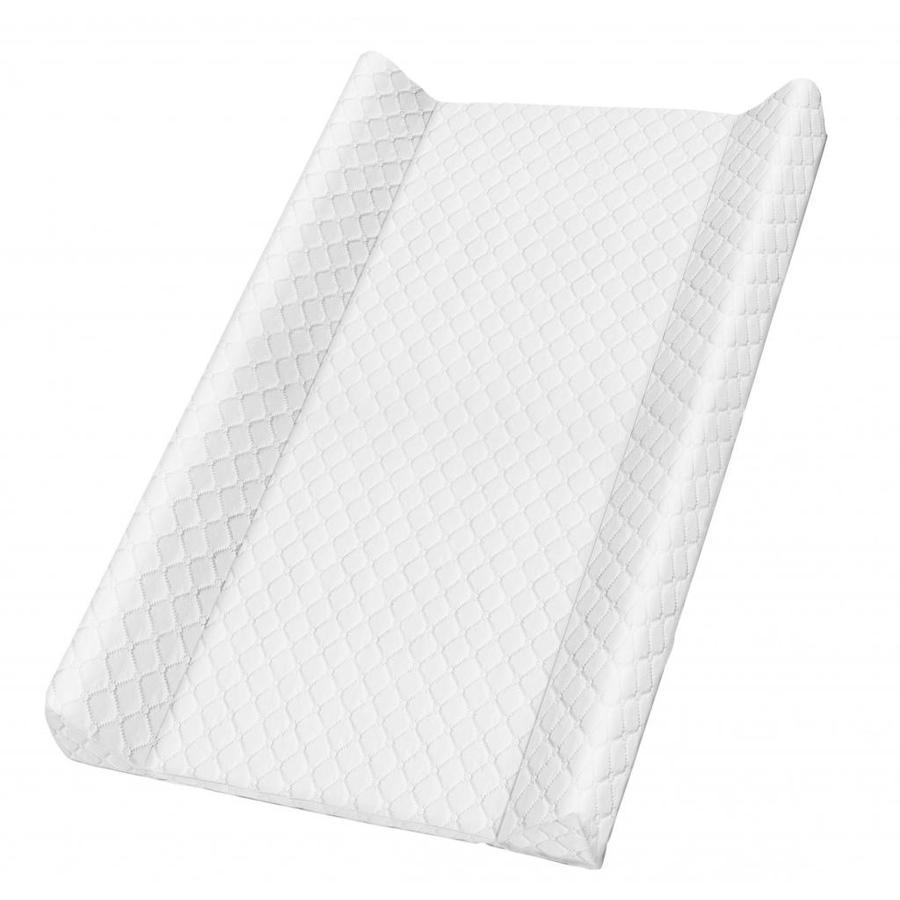Rotho Babydesign Keilwickelauflage Royal weiß gesteppt 50 x 70cm