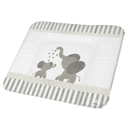 Rotho Babydesign Wickelauflage Modern Elephants grau 72 x 85 cm