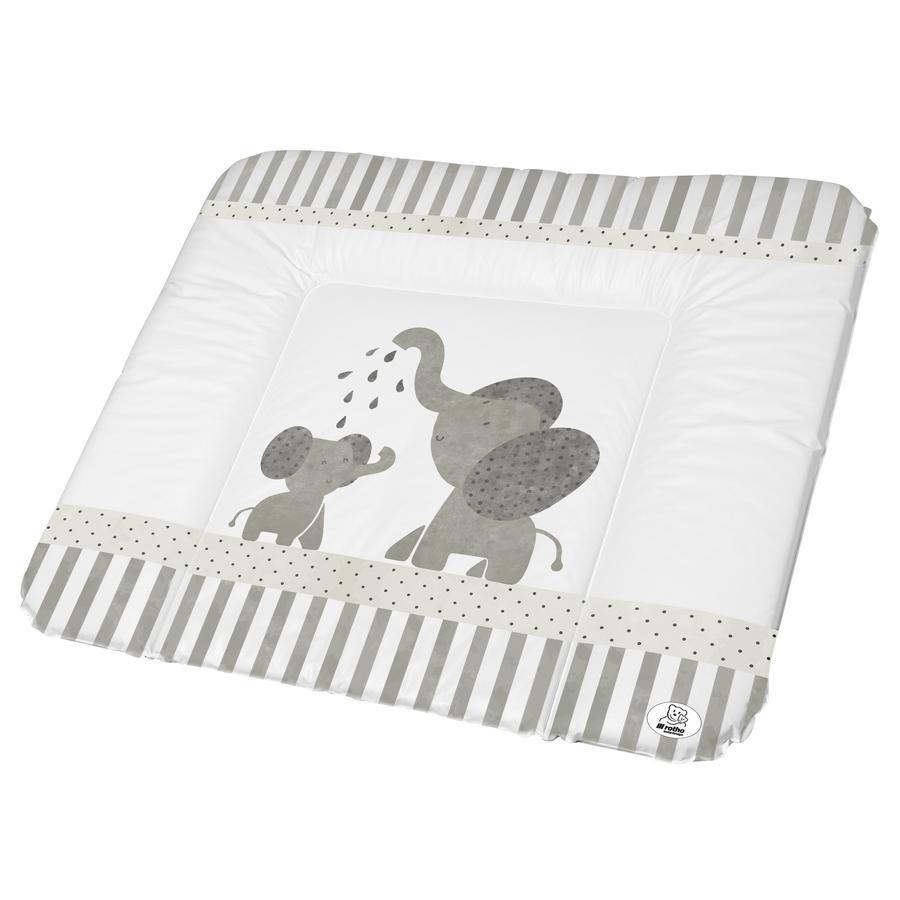 rotho babydesign Wickelauflage modern Elephants weiß 72 x 85 cm