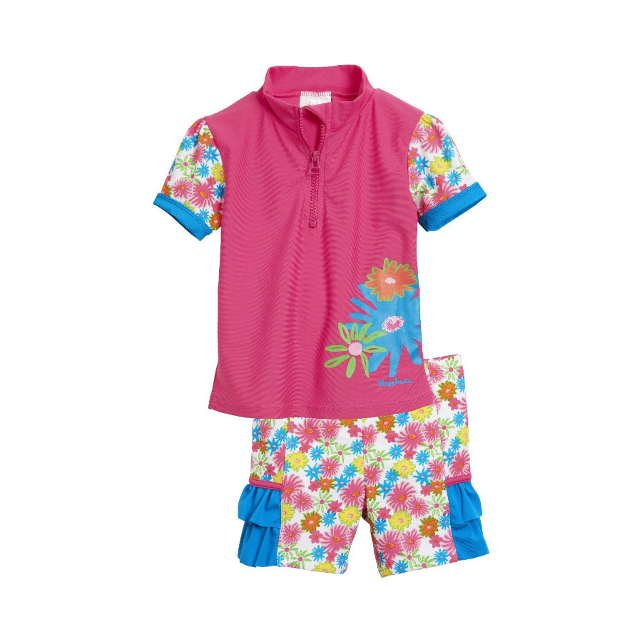 PLAYSHOES Ensemble de bain enfant, protection UV, Mer des fleurs