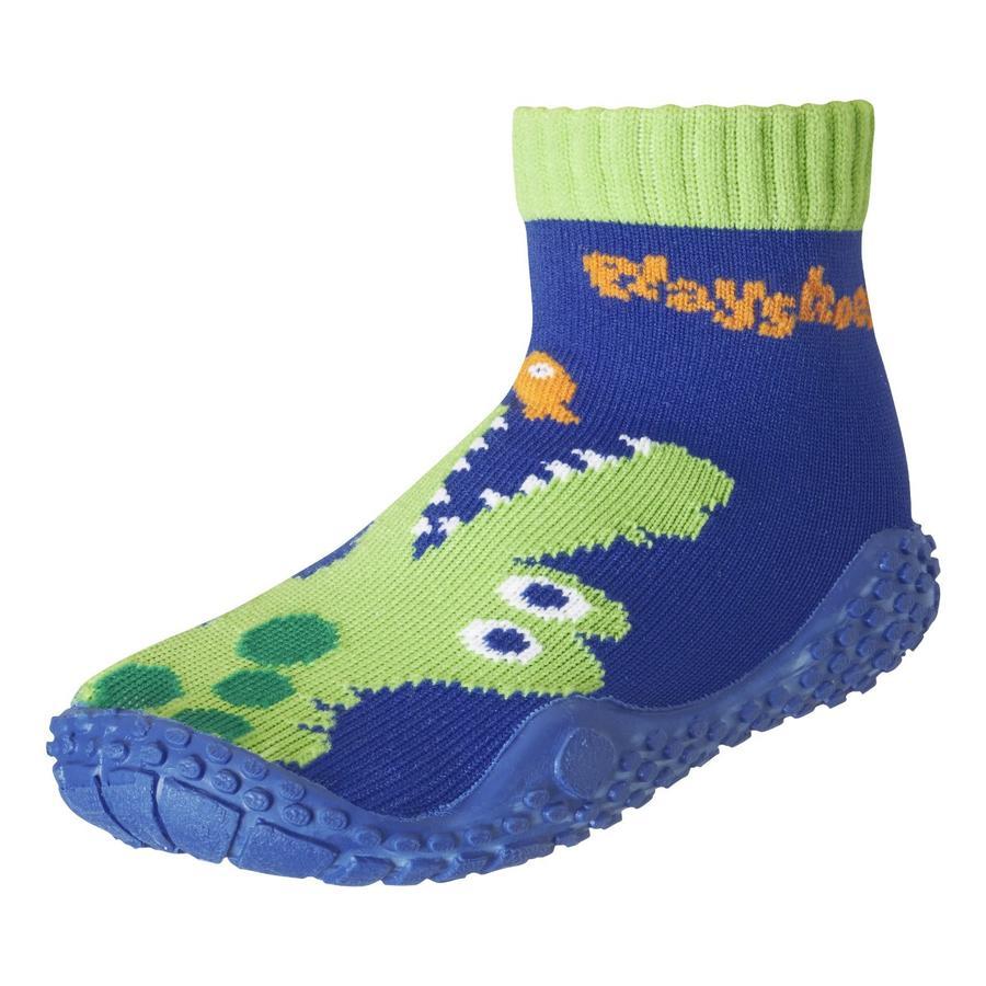Playshoes Aqua sok krokodil marine