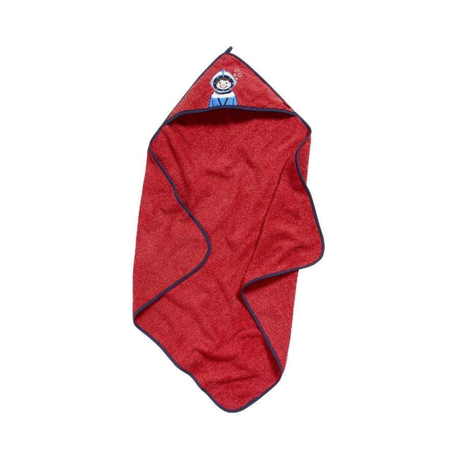 Playshoes Frottee-Kapuzentuch Taucher rot