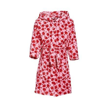 Playshoes Fleece Bathrobe Strawberry pink