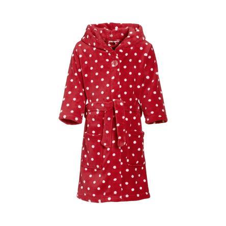 Playshoes Fleece-Bademantel Punkte rot