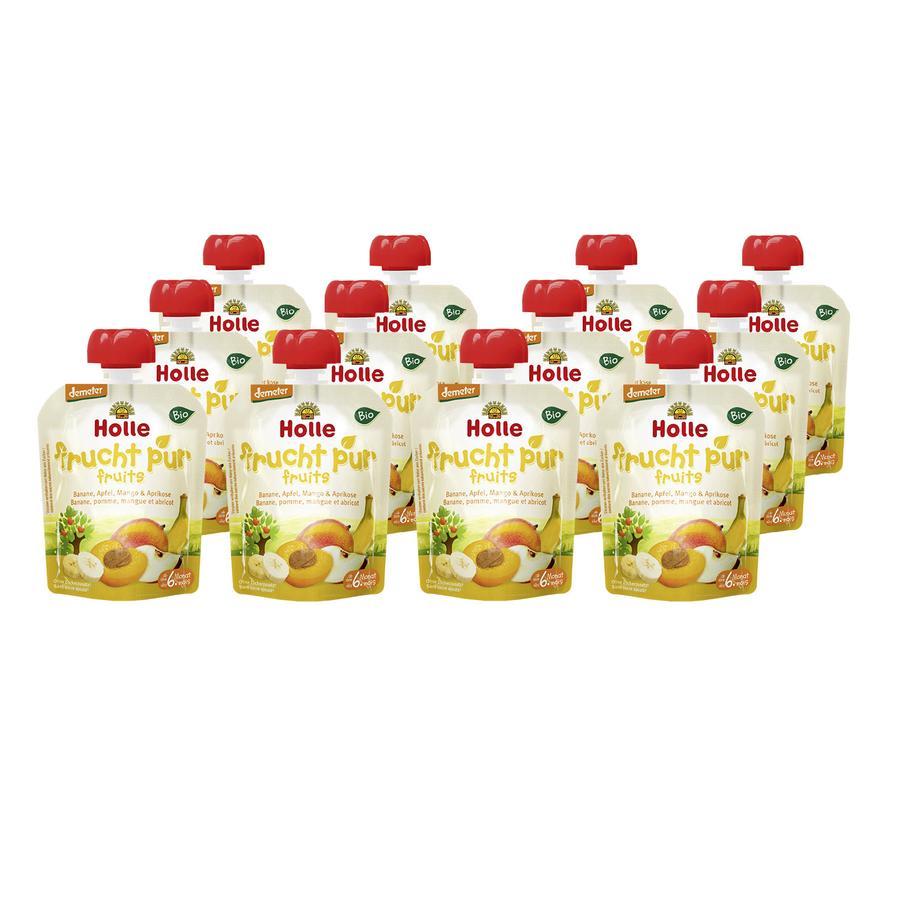 Holle Pouchy Banane Apfel Mango & Aprikose 12 x 90 g