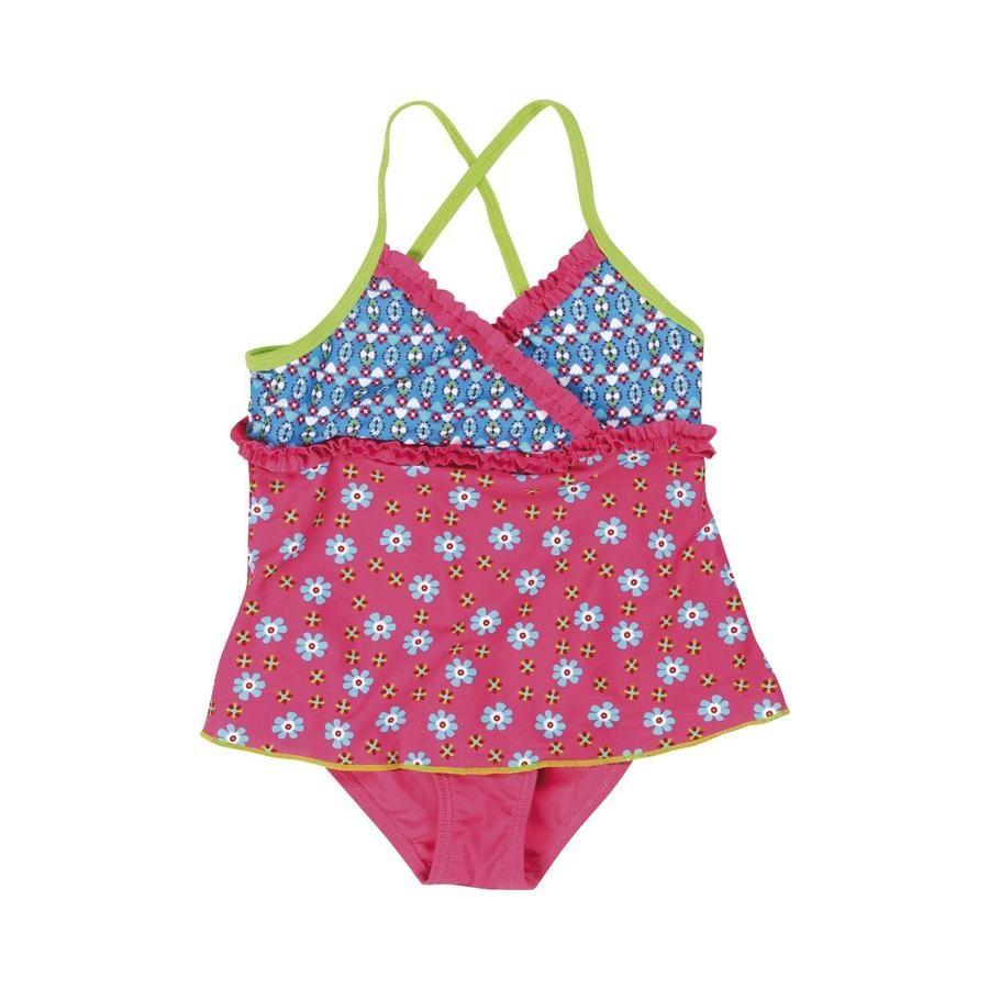 Playshoes Strój kąpielowy Kwiatki pink