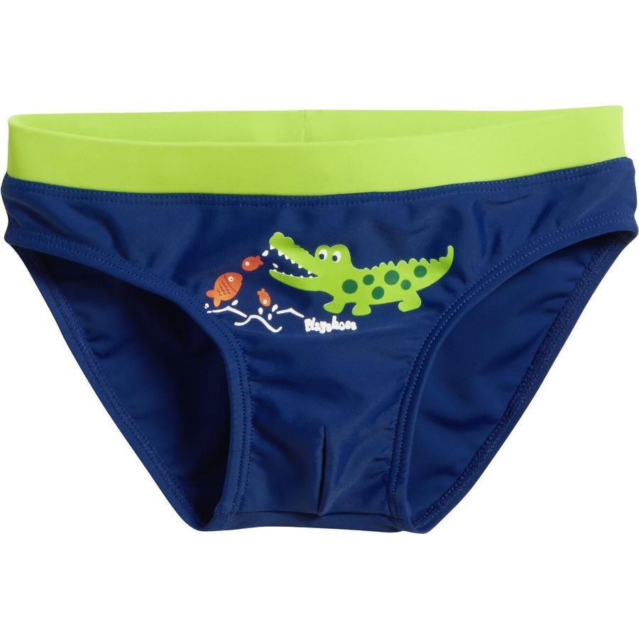 Playshoes Pantalón de baño con protección UV azul cocodrilo