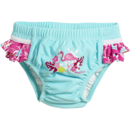 Playshoes Maillot de bain couche anti-UV enfant bleu flamant rose