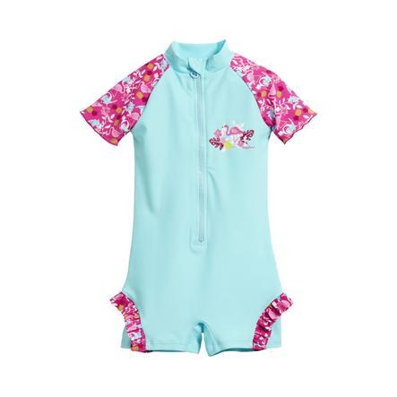 Playshoes Combi anti-UV enfant bleu flamant rose