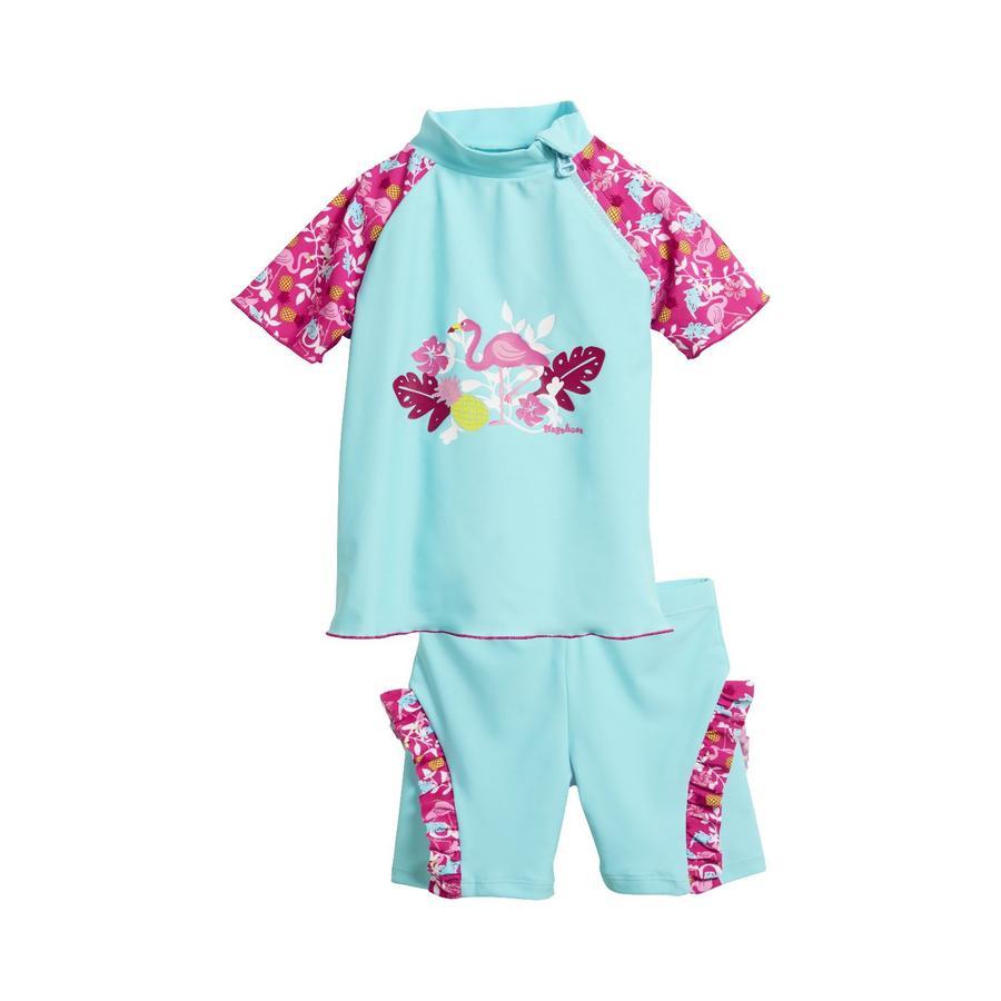 Playshoes Costume a due pezzi Protezione Anti-UV Flamingo