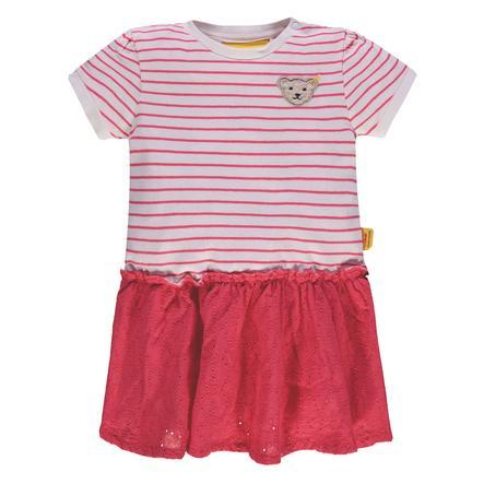 Steiff Girls Kleid mit Streifen und Lochmuster