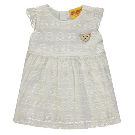 Steiff Girls Kleid mit Stickerei, weiß