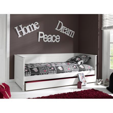 VIPACK postel se zásuvkou pod postel Pino bílá