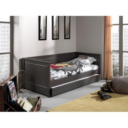 VIPACK Køjeseng med sengeskuffe Pino taupe