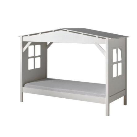 VIPACK Spielbett-Haus Pino weiß