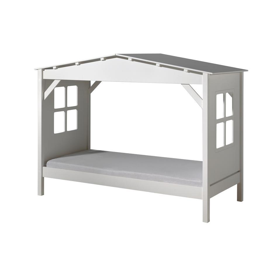 vipack spielbett haus pino wei. Black Bedroom Furniture Sets. Home Design Ideas