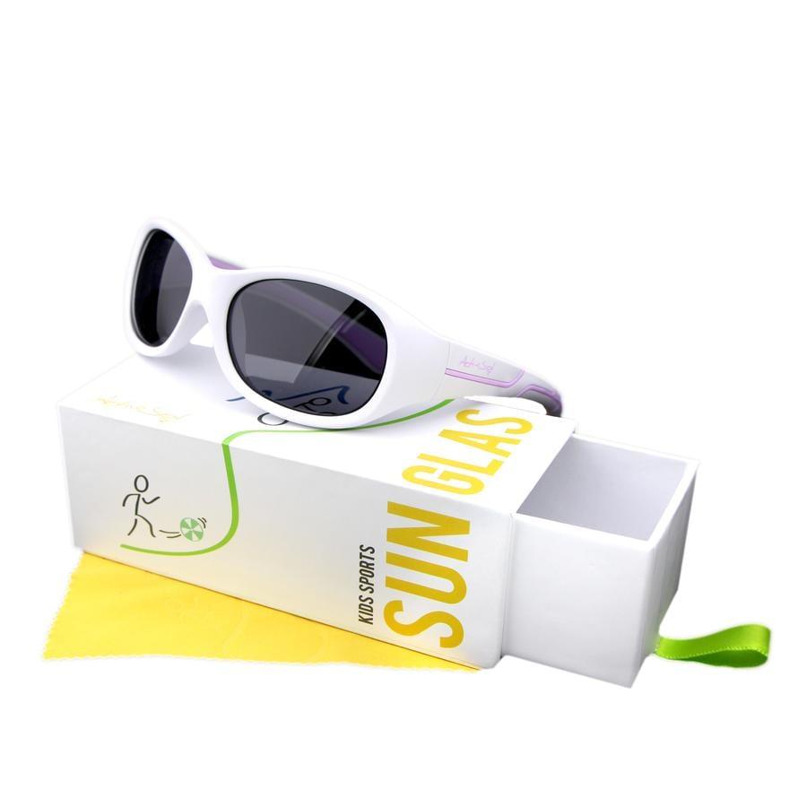 Active Sol Occhiali da Sport sole per bambini bianco-rosa