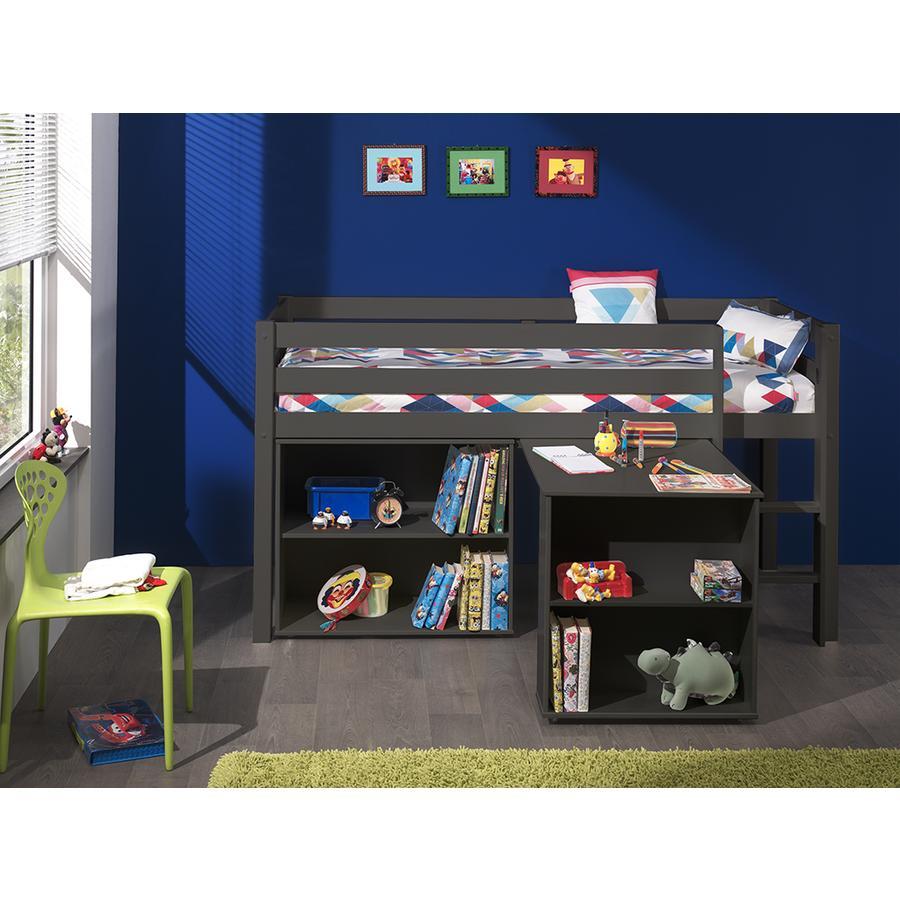 VIPACK Spielbett mit Schreibtisch und Regal Pino taupe