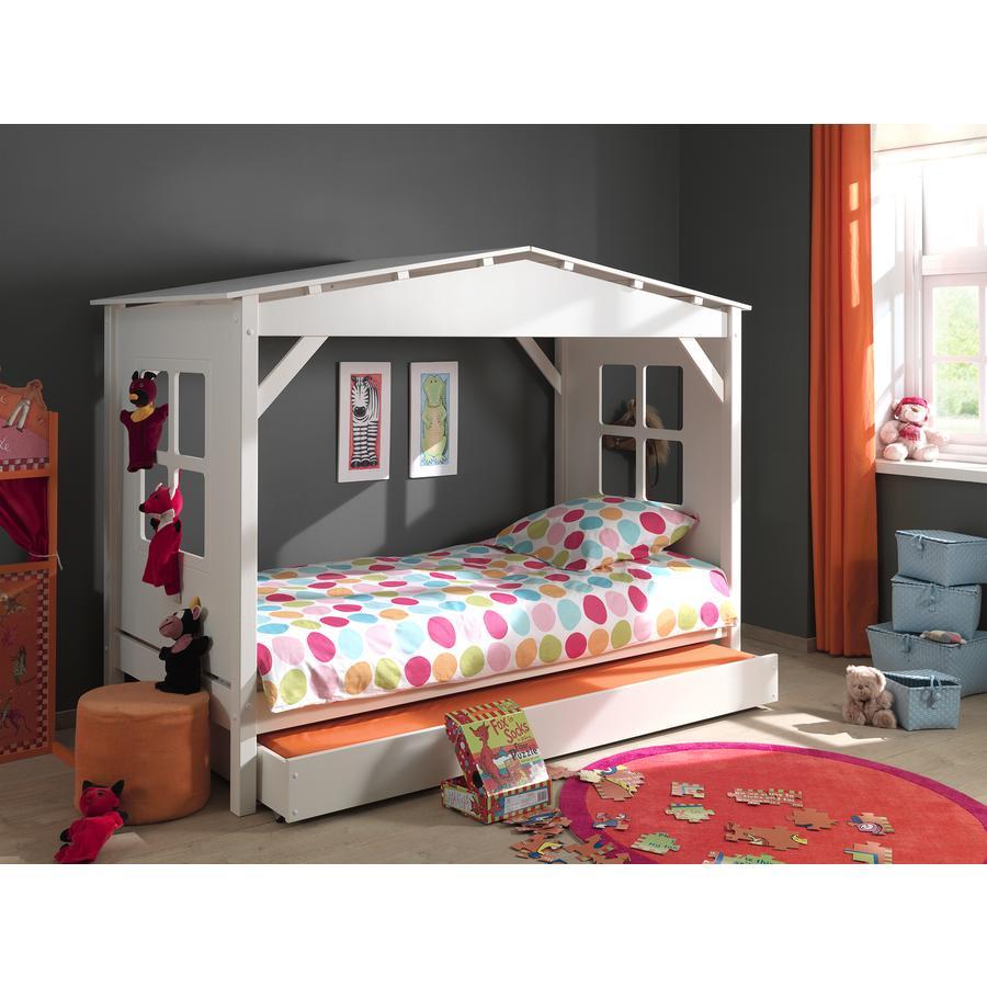VIPACK postel domeček se zásuvkou pod postel Pino bílá