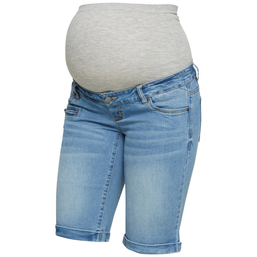 mama licious Pantaloncini MLFRIDAY Azzurro Denim