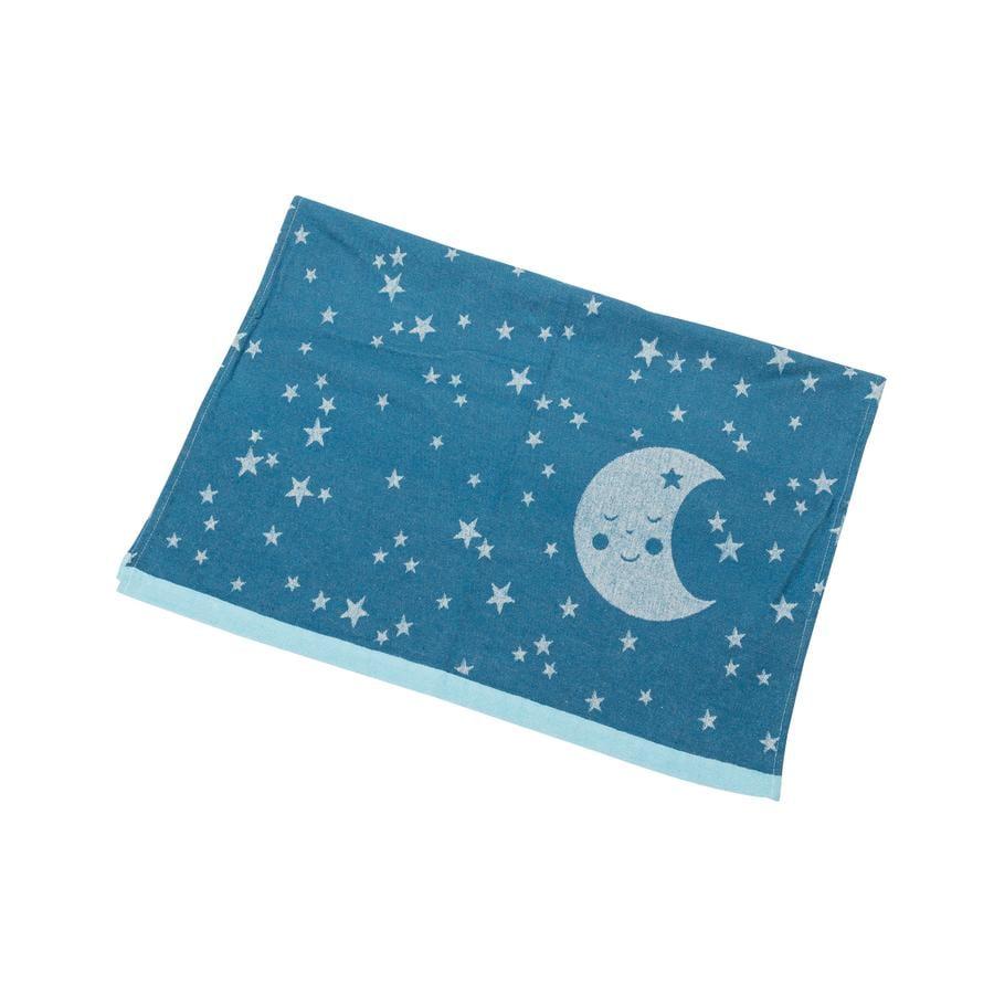 DAVID FUSSENEGGER Babytæppe bomuld måne atlantik 70 x 90 cm