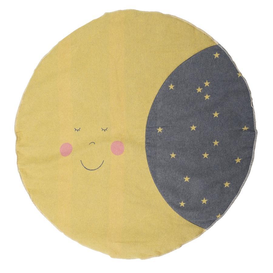 DAVID FUSSENEGGER kravletæppe måne foret rund 120 cm