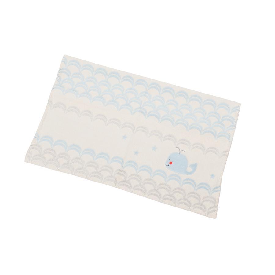 DAVID FUSSENEGGER Koc dla dzieci Wal Stick surowy biały 65 x 90 cm