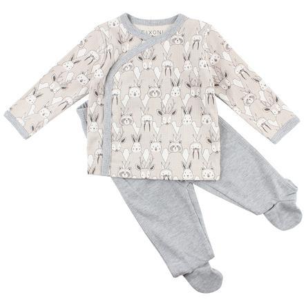 FIXONI Baby Schlafanzug offwhite