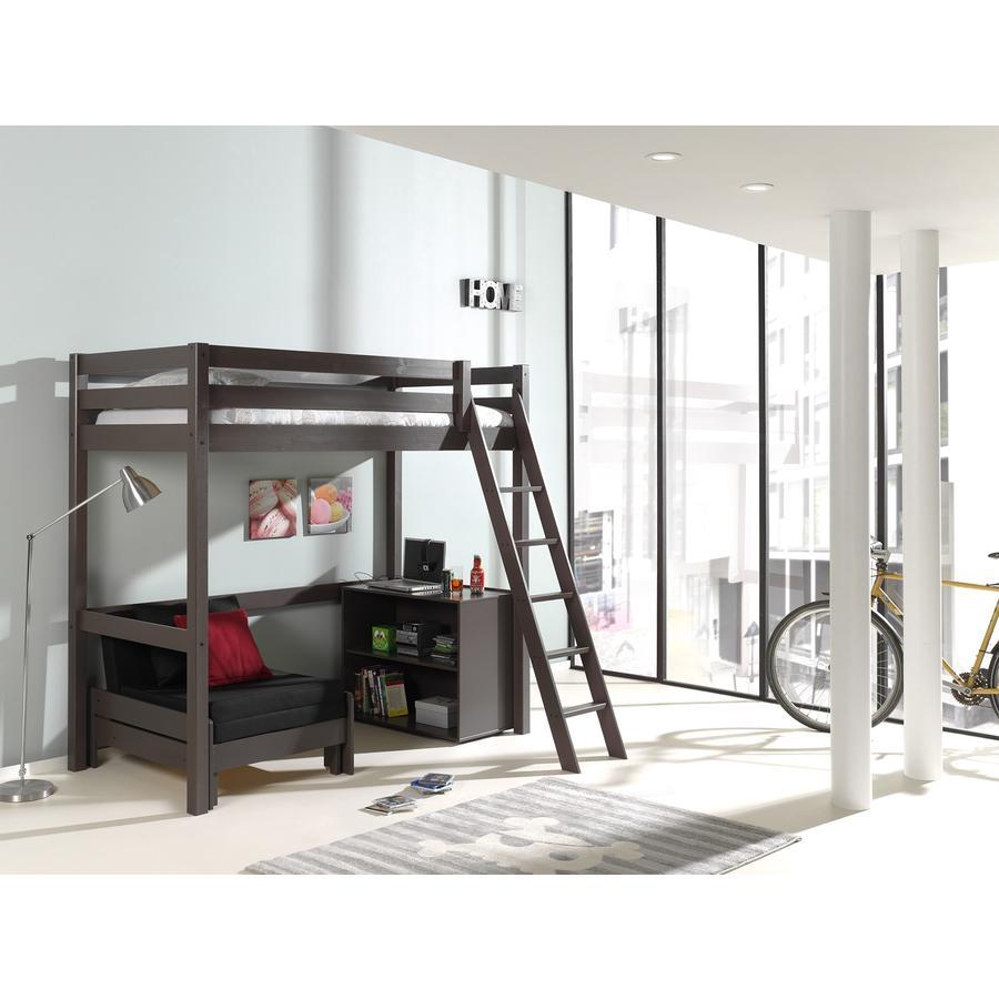 vipack hochbett mit kommode und sessel pino taupe 140 x 200 cm. Black Bedroom Furniture Sets. Home Design Ideas