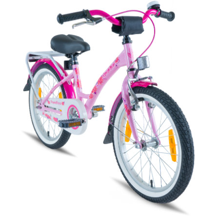 "PROMETHEUS BICYCLES® Vélo enfant HAWK 18"", rose/blanc"