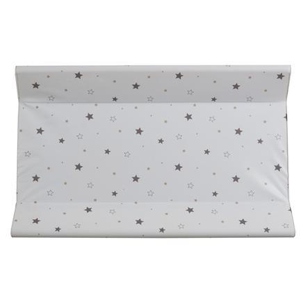 Schardt Matelas à langer bordure étoiles grises, 50 x 80 cm