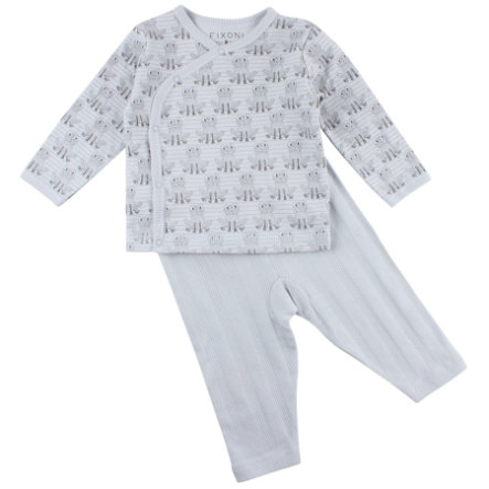 FIXONI Baby Schlafoverall Set illusion blue Frosch
