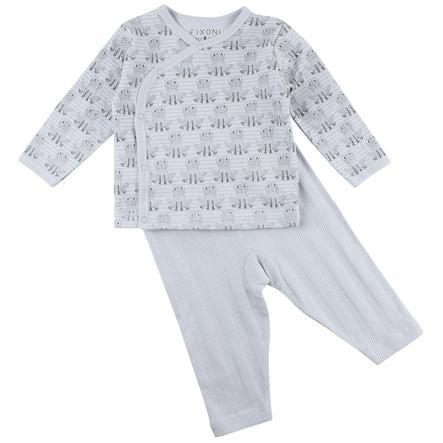 FIXONI Baby Sleepoverall Set illusie blauwe kikker