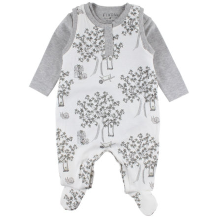 FIXONI Baby Strampler off white tree